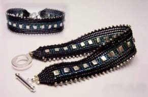 объемные браслеты из бисера и колье... Bb5