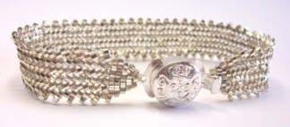 объемные браслеты из бисера и колье... Bb6
