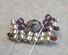объемные браслеты из бисера и колье... Be10