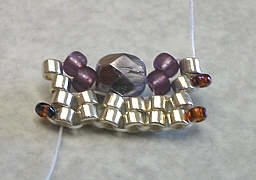 объемные браслеты из бисера и колье... Be11