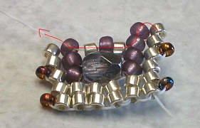 объемные браслеты из бисера и колье... Be13