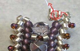 объемные браслеты из бисера и колье... Be16
