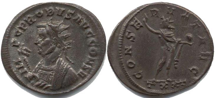 Aureliano de Probo. CONSERVAT AVG. Ticino R352.104.PG