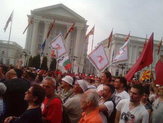 ПартиJа на Бугарите во РМ е прашанJе само на време Protesti_20150517