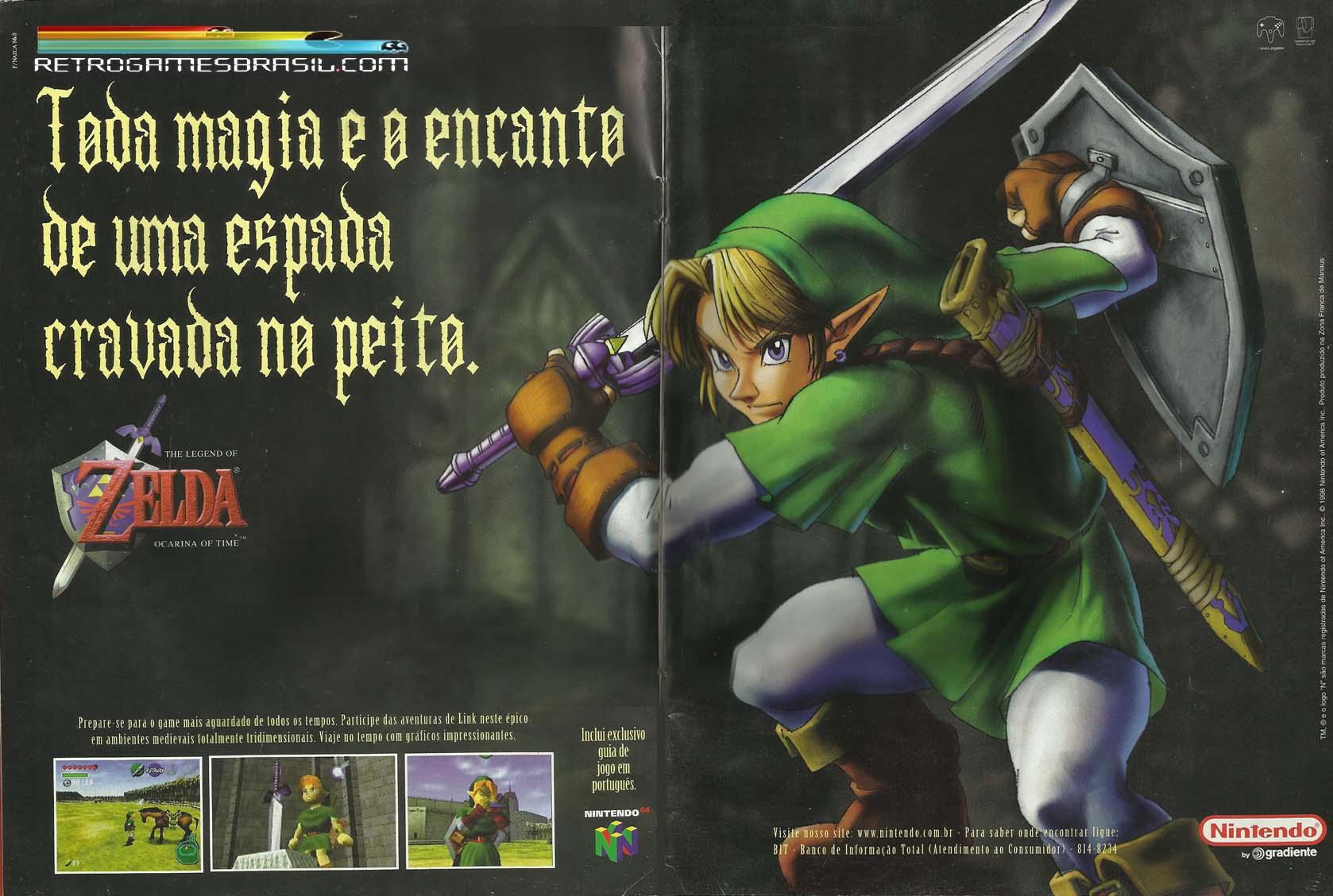 Ocarina of Time faz 20 anos hoje !!! Propaganda-OoT-FNazca