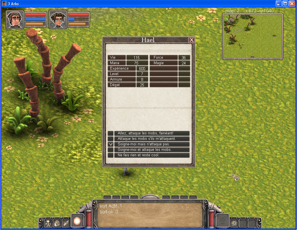 Arkeos Chronicle / 3 Arks -  Aventure RPG (moteur 2D iso) - Page 2 Ingame012