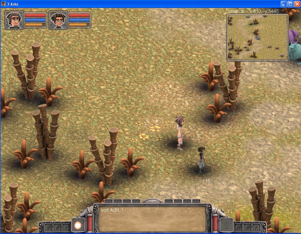 Arkeos Chronicle / 3 Arks -  Aventure RPG (moteur 2D iso) IngameUI01