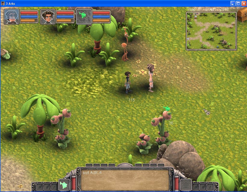 Arkeos Chronicle / 3 Arks -  Aventure RPG (moteur 2D iso) IngameUI02