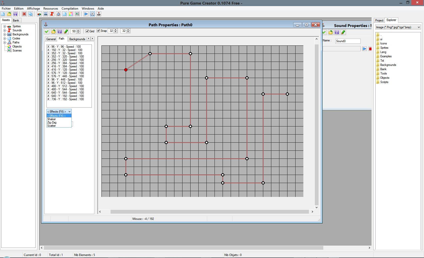 Logiciel : Editeur de jeu Screenshot0.1_path