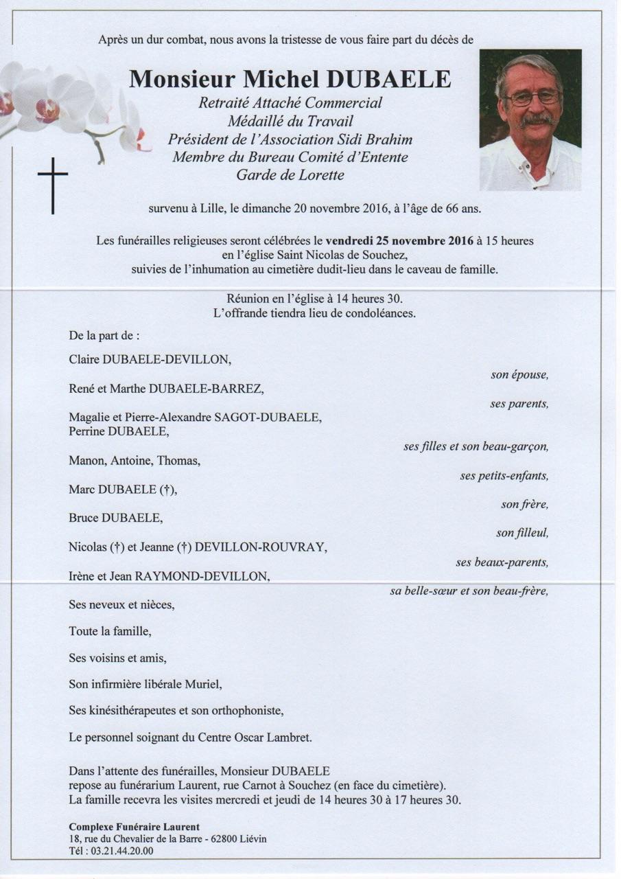 décès du président de la Sidi Brahim 62 DUBAELE