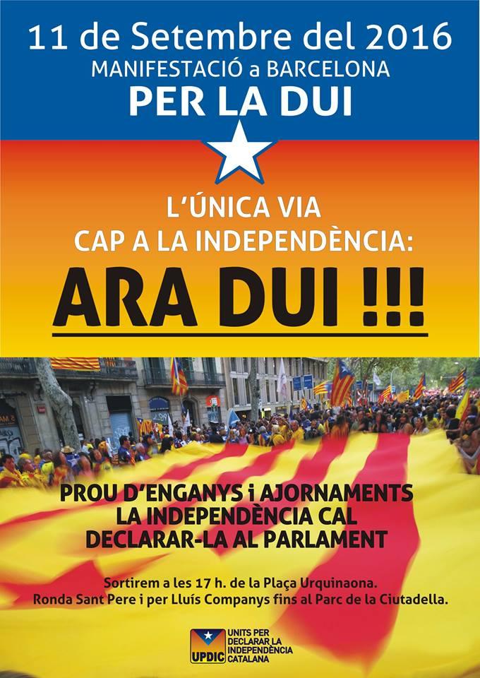 ¿Qué opináis sobre la posible independencia de Cataluña? - Página 36 11-S-DUI-2016
