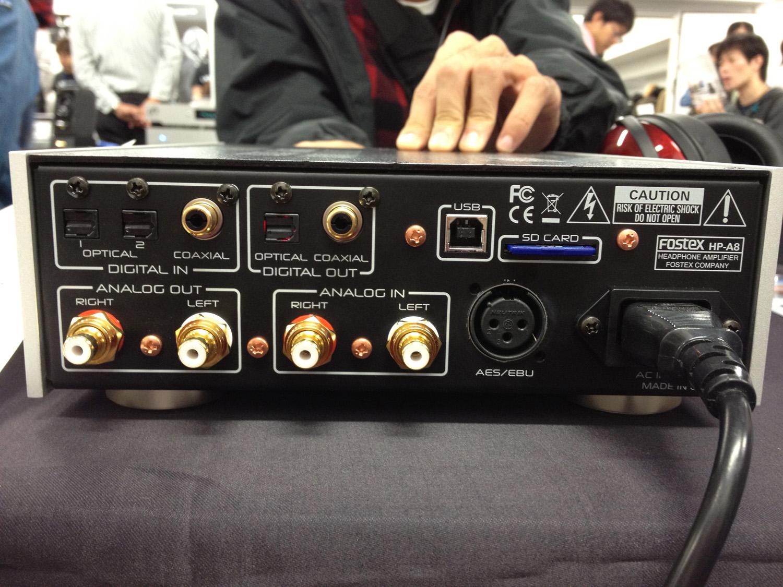 FOSTEX HP-A8 32-bit DAC Headphone Amplifier Back