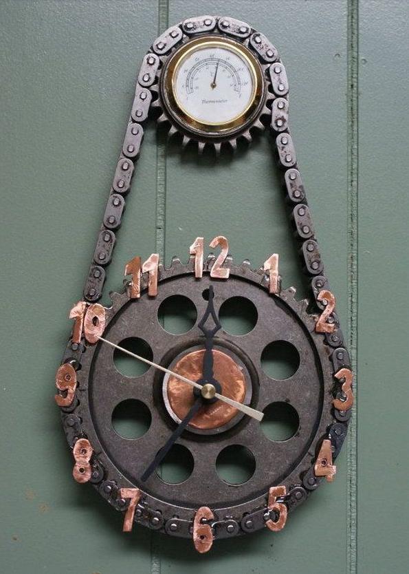 Déco intérieur - Page 5 Horloge-Moto-1