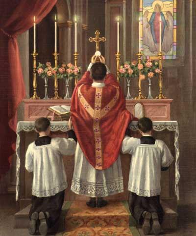 "Encourager la messe ""ad Orientem"" Elevation-of-host"