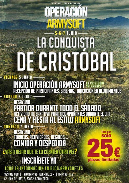 La Conquista de Cristobal. 5-6-7 Junio (ARMYSOFT) 11151028_923524864335261_6090311870903853045_n