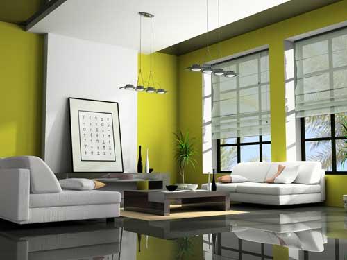 اناقة الاخضر في المنزل.... Deco-vert-gris-design
