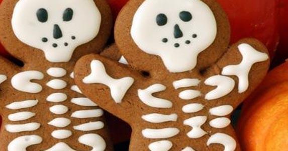 Halloween. Receta-de-galletas-de-vainilla-de-esqueletos-para-Halloween