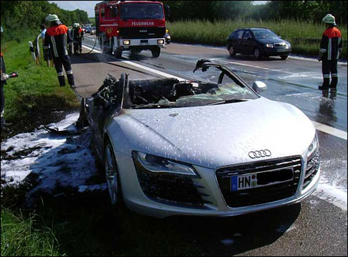 Dweller - Un week-end en Sea-Dweller 20070909a_Audi_R8_crash