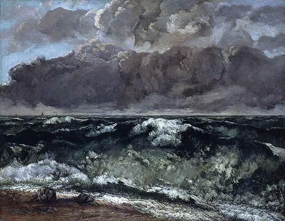 Maupasssant rencontre les peintres Courbet_vague_Berlin