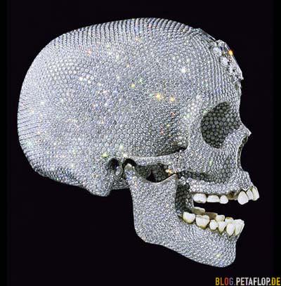 Damien Hirst's Damien-hirst-for-the-love-of-god-platinum-skull-platin-totenschaedel-50-million-pounds-50-millionen-pfund