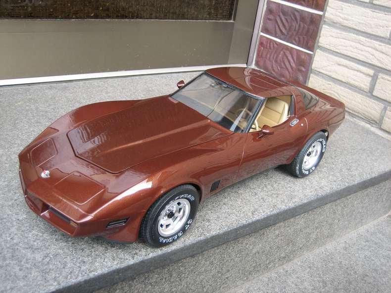 Stéphane, maquettiste automobile, fabrique une C3 69 échelle ... 1 et 1:4 Brown-c3-corvette-monogram-18-4
