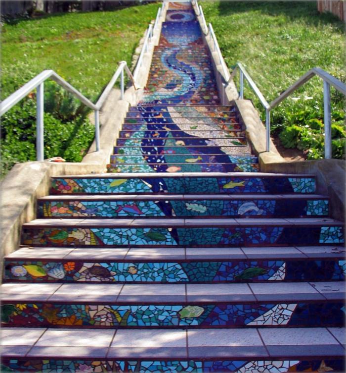 Oslikane stepenice Street-Art-Mosaic-Stairs
