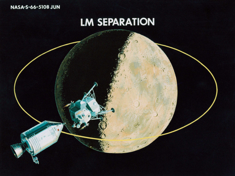Apollo et le mode rendez-vous en orbite lunaire ( LOR ) 1966-illustration-15-Separation-du-LEM-2