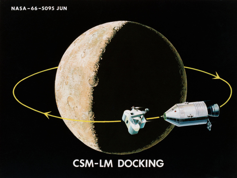 Apollo et le mode rendez-vous en orbite lunaire ( LOR ) 1966-illustration-21-Rendez-vous-orbite-lunaire-2