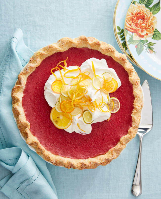 Host a Festive Brunch This Easter Cranberry-Curd-Pie