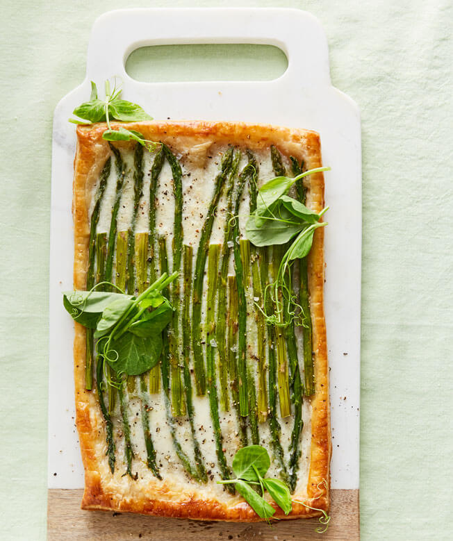 Host a Festive Brunch This Easter Puff-Pastry-Tart-with-Asparagus
