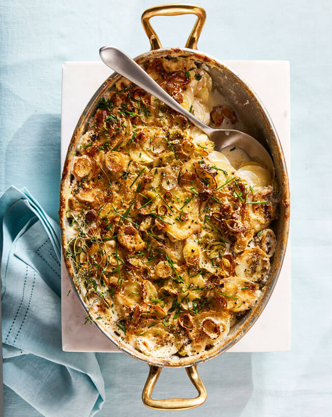 Host a Festive Brunch This Easter Scalloped-Potatoes-with-Leeks