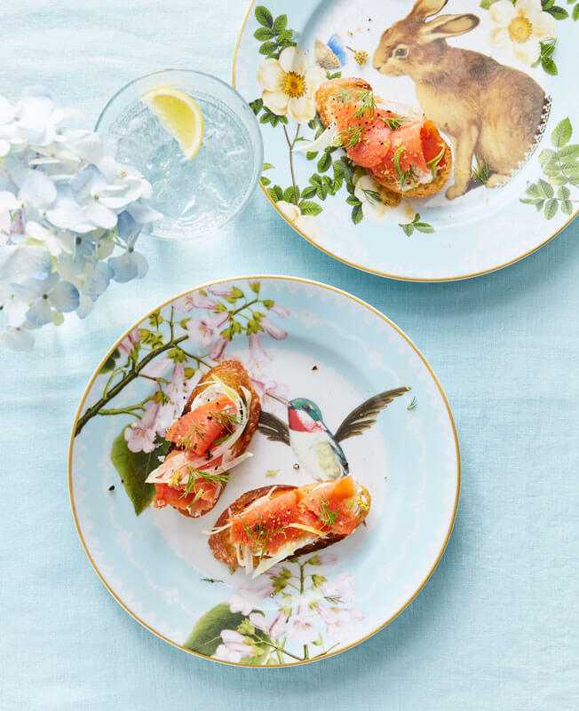 Host a Festive Brunch This Easter Smoked-Salmon-Crostini