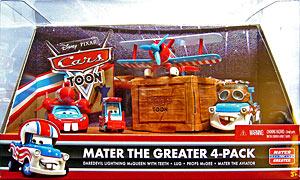 """""""Quelles différences entre cars toons single et ceux des packs 4 """" Mater_the_aviator_cars_toon_pack_de_4"""