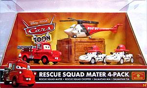 """""""Quelles différences entre cars toons single et ceux des packs 4 """" Rescue_squad_chopper_cars_toon_pack_de_4"""