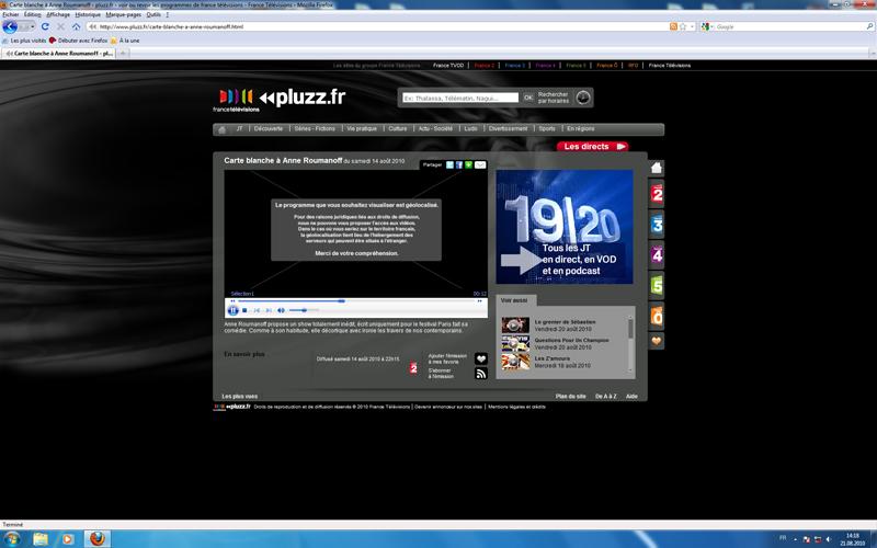 pluzz.fr : comment lire les vidéos géolocalisées SANS PROXY Pluzz_2