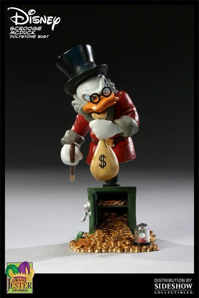 Disney Busts - Grand Jester Studios (depuis 2009) Scrooge-McDuck-Polystone-Bust-01