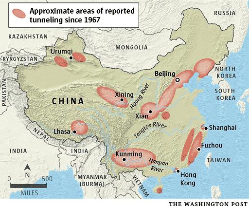 موضوع : الصين تخفي اكثر من 3000 رأس نووي في انفاق سرية طولها حوالي 5000 كلم  3114a79688886050c1c7f97b4ad10b8b