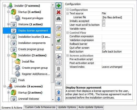 تحزيم تطبيقات الجافا الرسومية و إنشاء ملف تنصيب setup باستخدام install4j DisplayLicenseAgreementScreenProperties