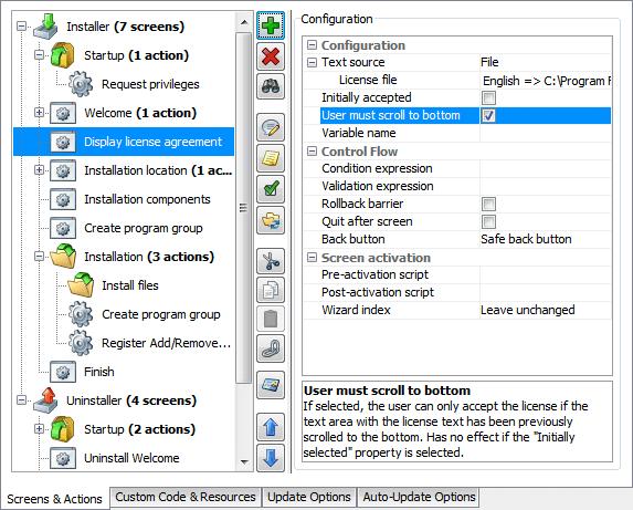 تحزيم تطبيقات الجافا الرسومية و إنشاء ملف تنصيب setup باستخدام install4j DisplayLicenseAgreementScreenPropertiesCompleted