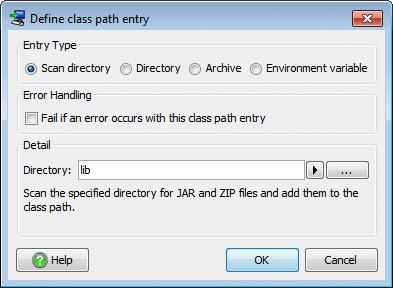 تحزيم تطبيقات الجافا الرسومية و إنشاء ملف تنصيب setup باستخدام install4j LauncherClasspathEntry