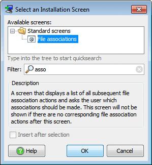 تحزيم تطبيقات الجافا الرسومية و إنشاء ملف تنصيب setup باستخدام install4j SelectFileAssociationsInstallationScreen