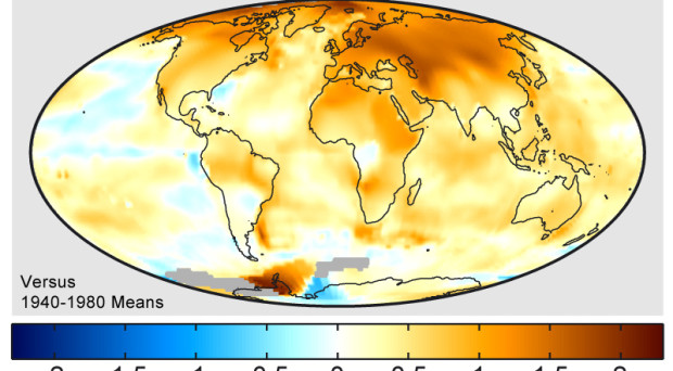 Dangerous global warming will happen sooner than thought – study  Global_Warming_Map-620x342