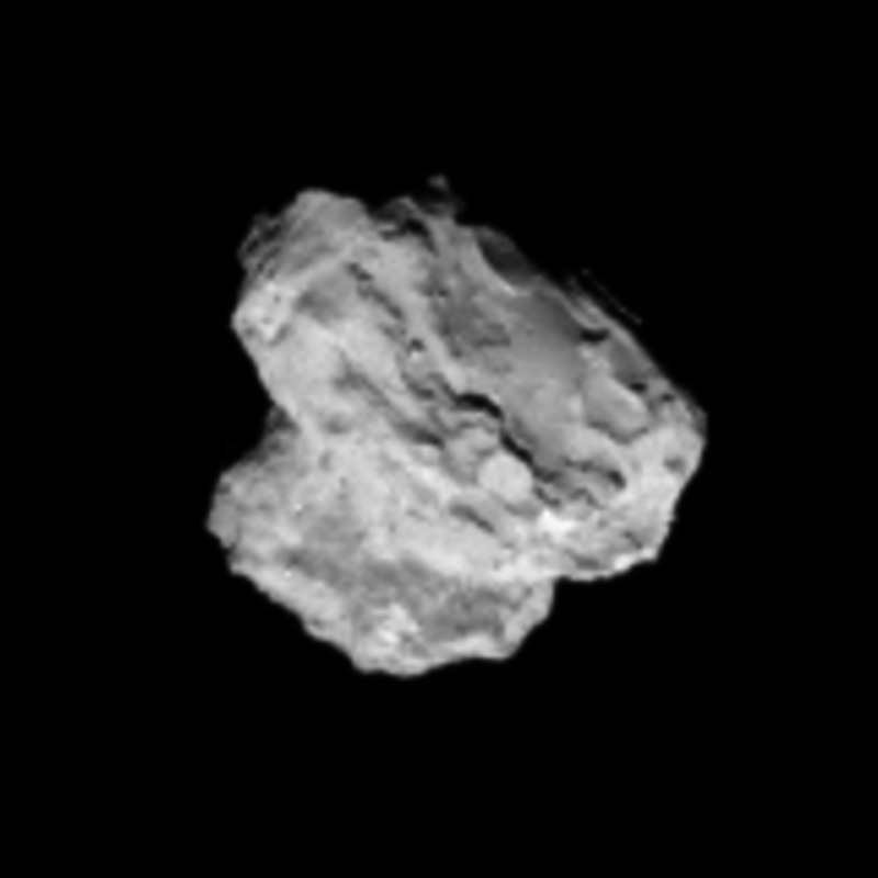 Rosetta : réveil et approche de 67P/Churyumov-Gerasimenko - Page 20 ESA_ROSETTA_NAVCAM_20140802_cropped_interpolatedx5_g05