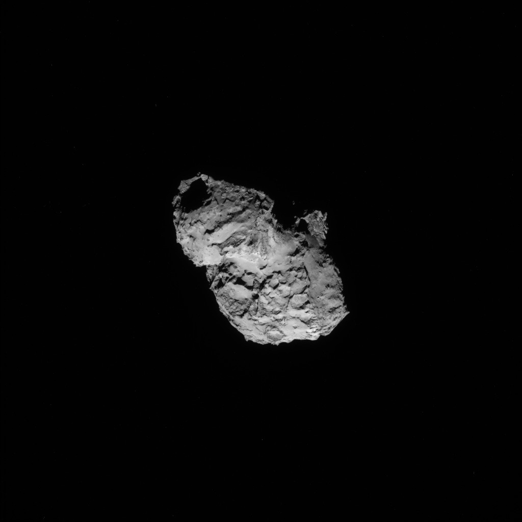 Rosetta : Mission autour de la comète 67P/Churyumov-Gerasimenko  - Page 2 ROSETTA_NAVCAM_20140805