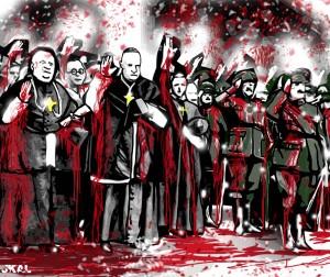Católico materialismo. Religión e intereses económicos  y  capitalistas Curas-franquistas8-300x252