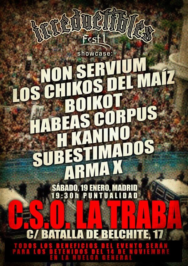[Libertad de expresión] El PP censura música reivindicativa en Madrid Irreductiblesfest