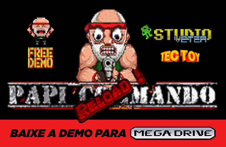 Papi Commando RELOAD !! *SgdK* - Megadrive - Nouveau Scénario ! Papi-commando-reload-demo-tectoy_capa-2