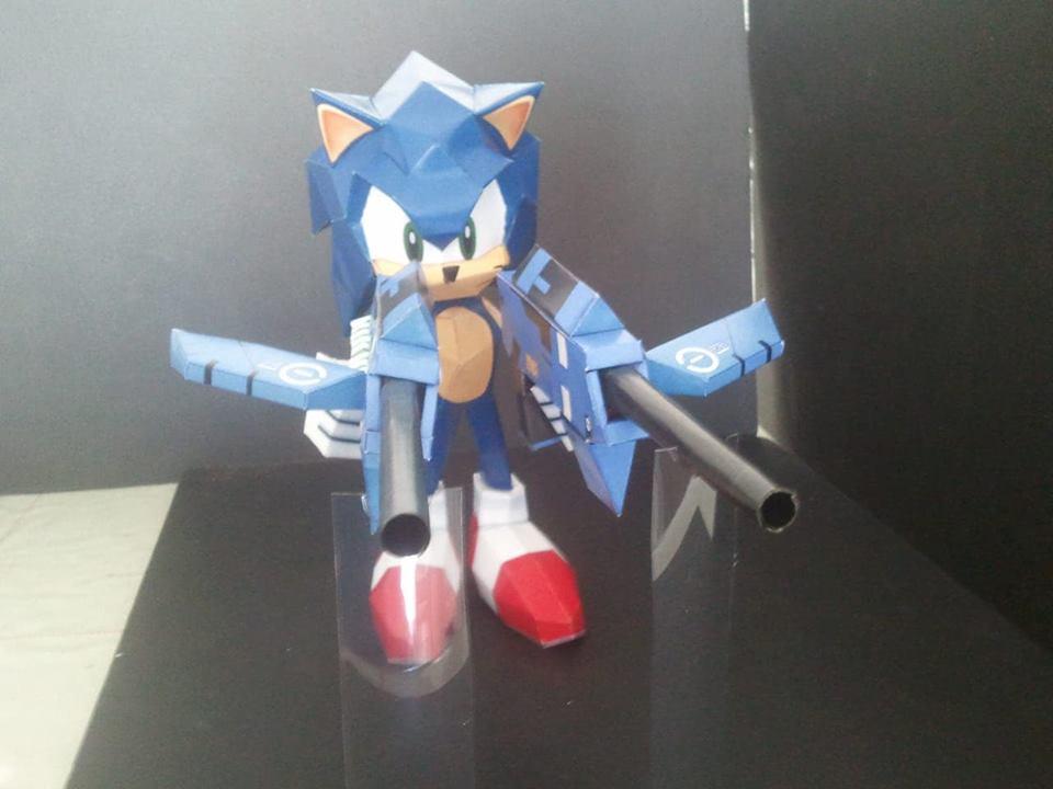 Papercraft do Sonic e card game do Skies of Arcadia! Conheça o talento de Marcelo Hirata 5-1