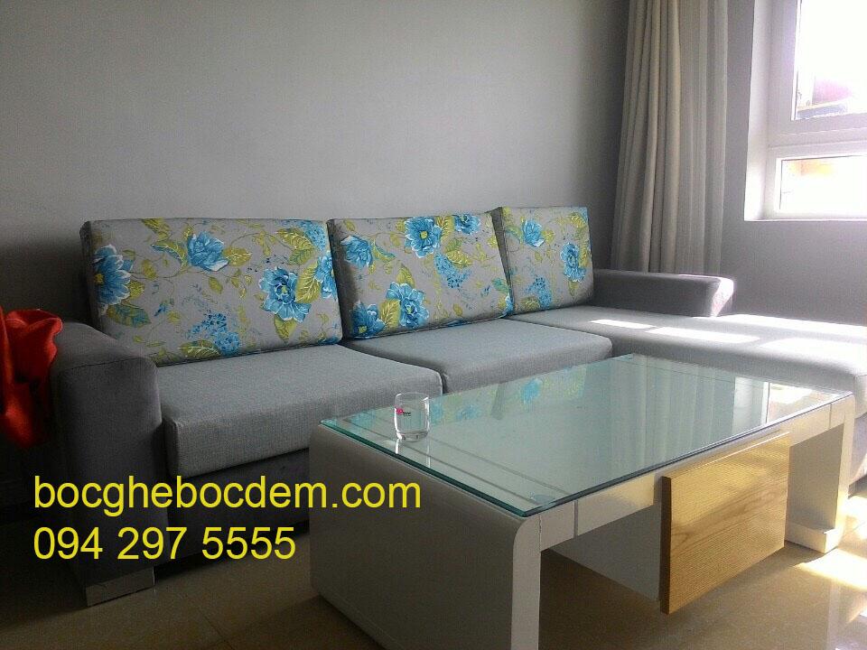 Bọc lại sofa giường tại nhà ở Hà Nội 4b