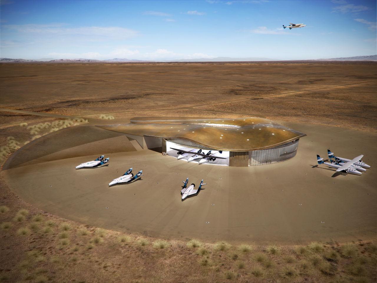 Dokkok, űrkikötő Foster__Partners_Spaceport_America__Rendering_02
